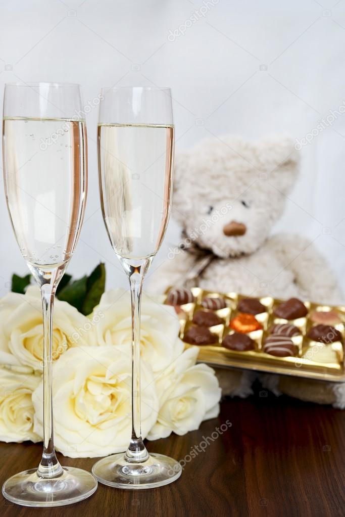 champagne och choklad