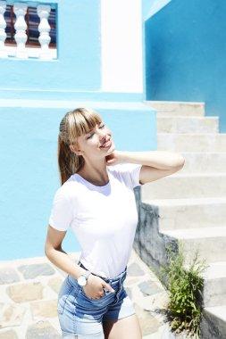 Beautiful woman enjoying sunlight