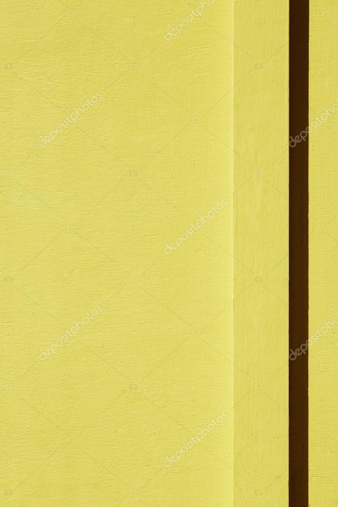 Bright Yellow Wall Stock Photo