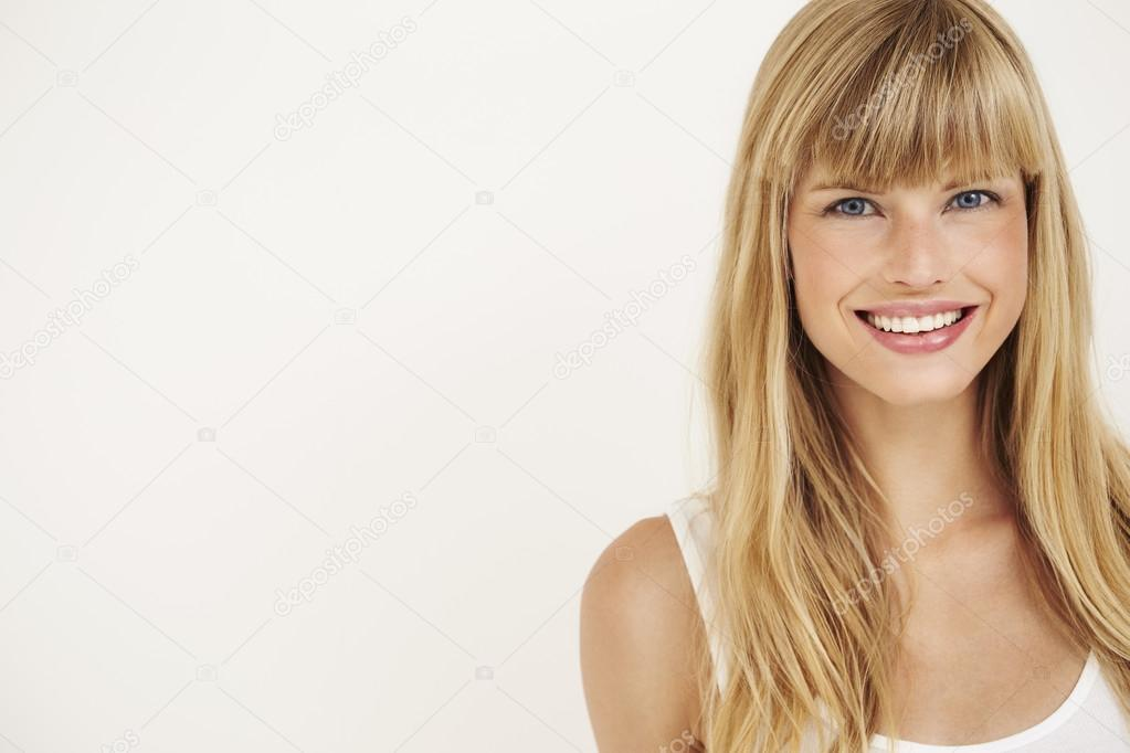 Young woman smiling