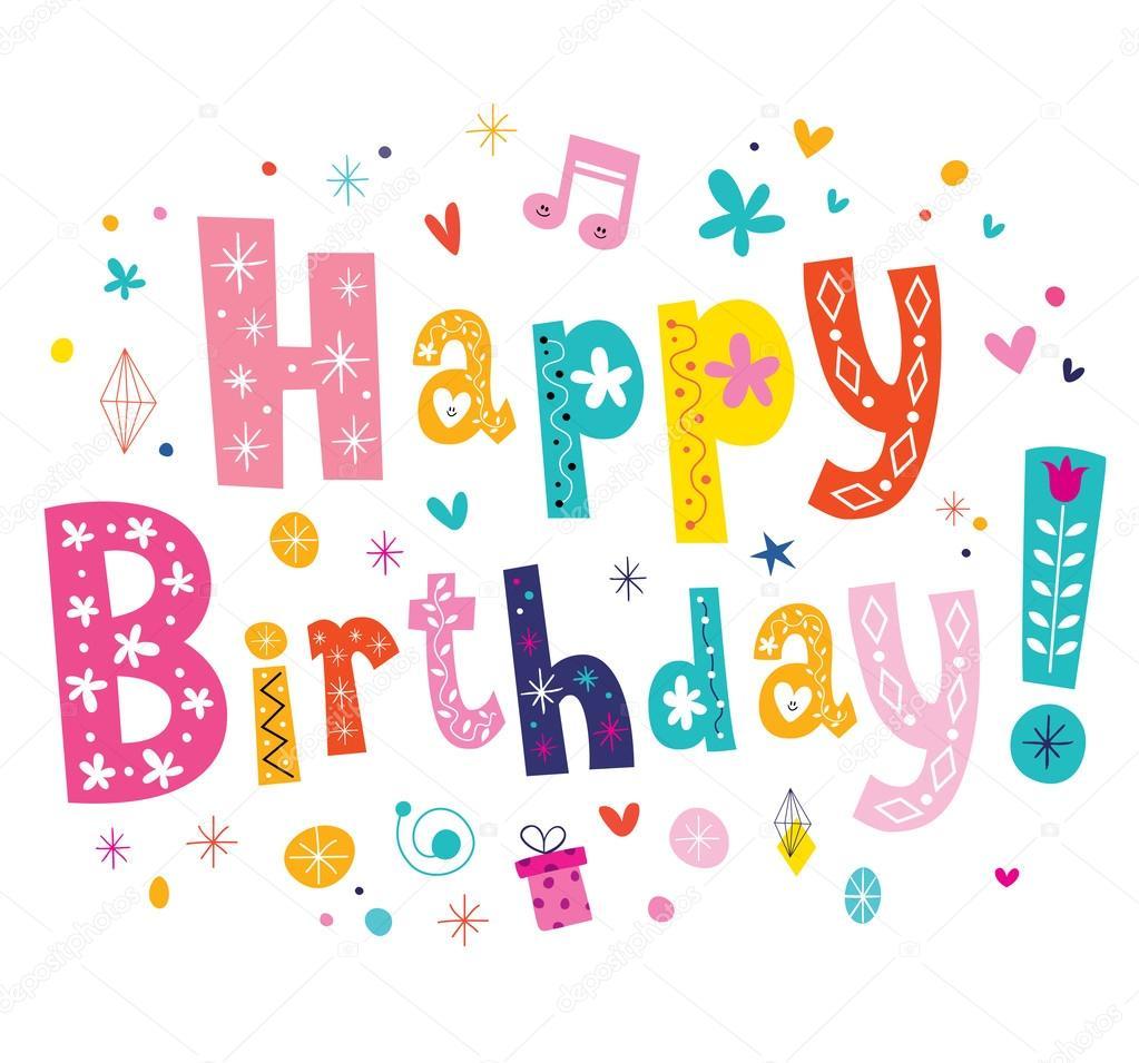 grattis på födelsedagen text Grattis på födelsedagen text — Stock Vektor © Aliasching #123818910 grattis på födelsedagen text