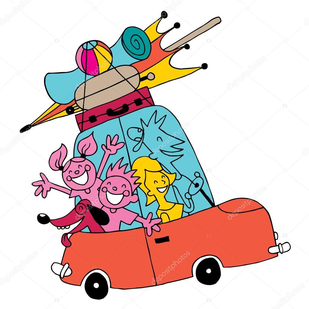 Images Vacation Cartoon Family Vacation Cartoon Illustration Stock Vector C Aliasching 123824804
