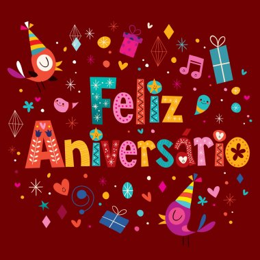 Feliz Aniversario Portuguese Happy Birthday greeting card