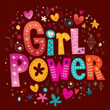 Girl power unique lettering design