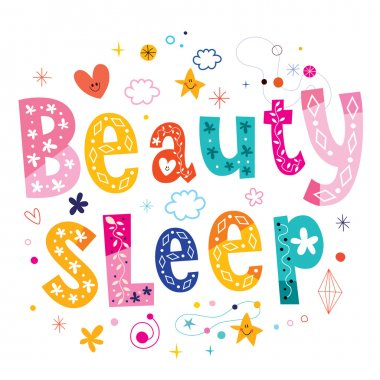 beauty sleep lettering design