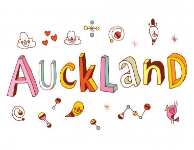 Auckland hand drawn lettering design