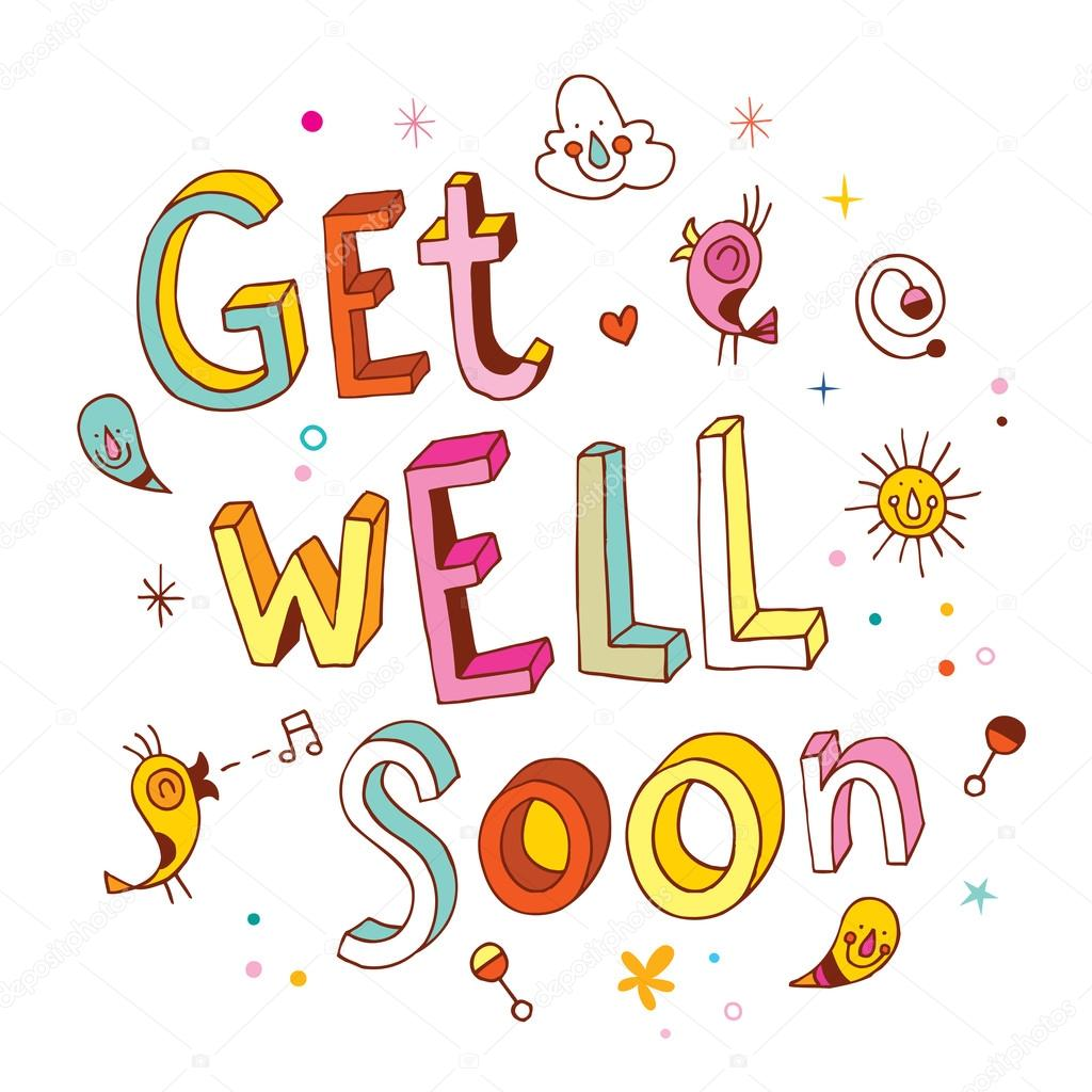 Get Well Soon Greeting Card Stock Vector Aliasching 123900268