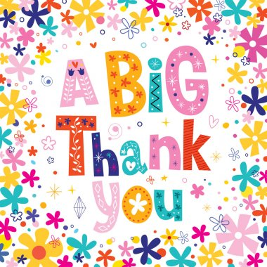 a big thank you greeting card