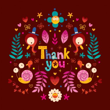 Thank you greeting card stock vector