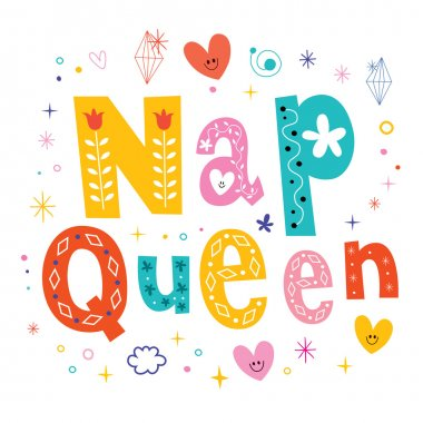 nap queen typography lettering decorative type