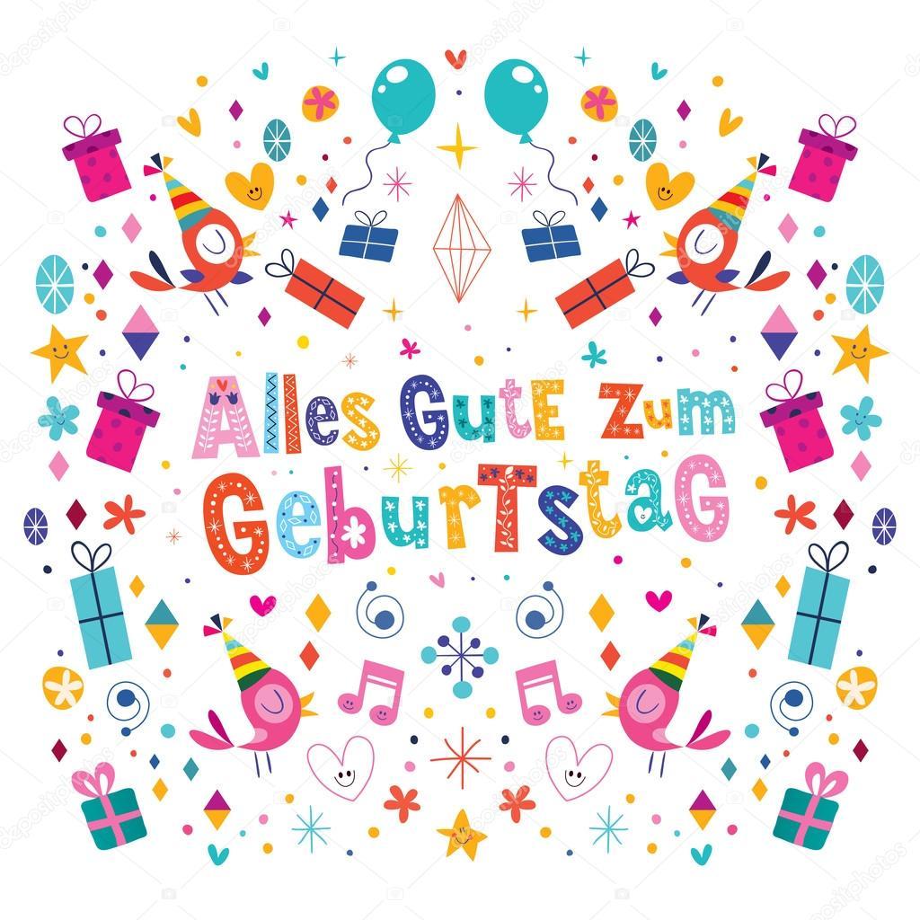 alles gute zum geburtstag deutsch german happy birthday vector design stock vector