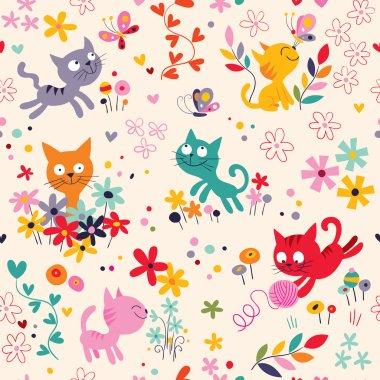 Cute kittens pattern