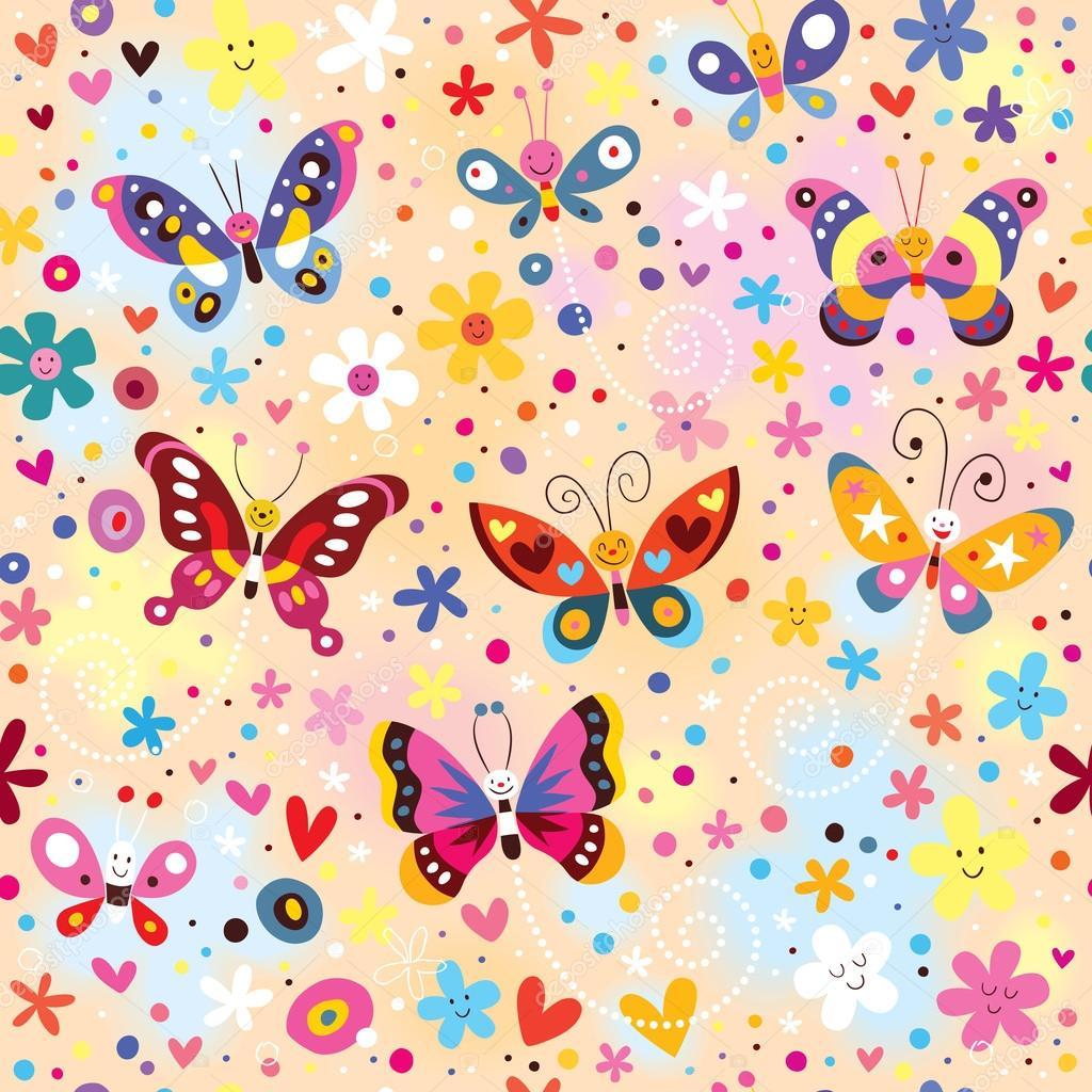 Modello di farfalle colorate vettoriali stock for Foto farfalle colorate