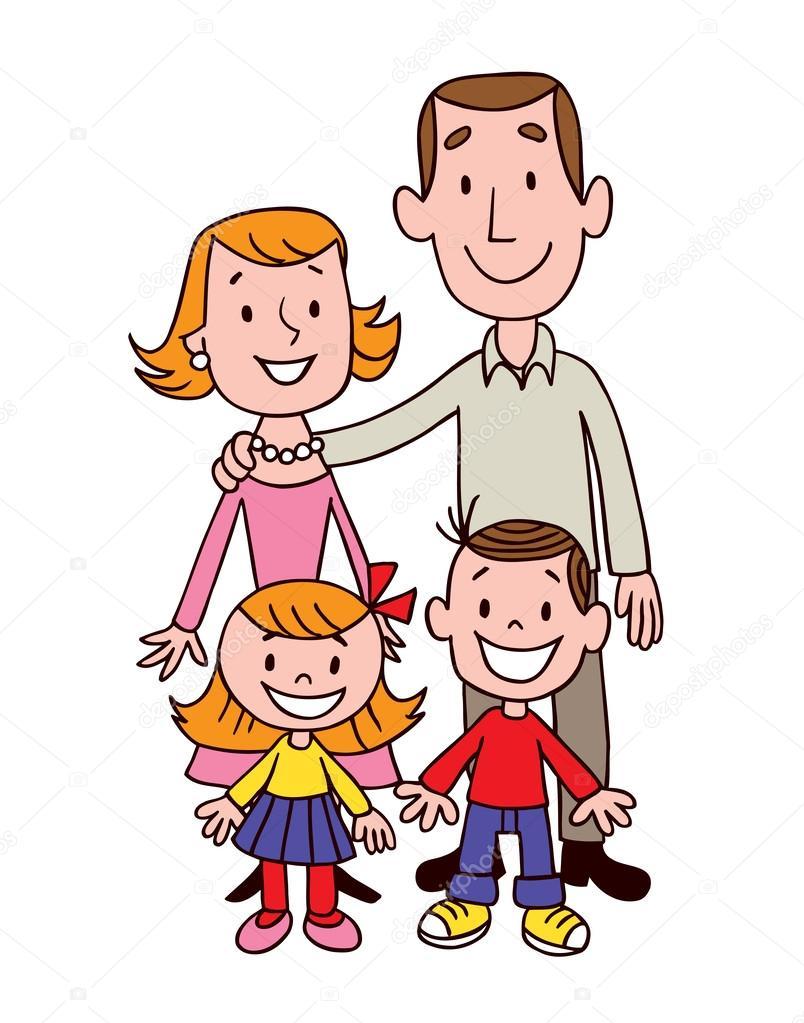 Kreslený rodina — Stockový vektor