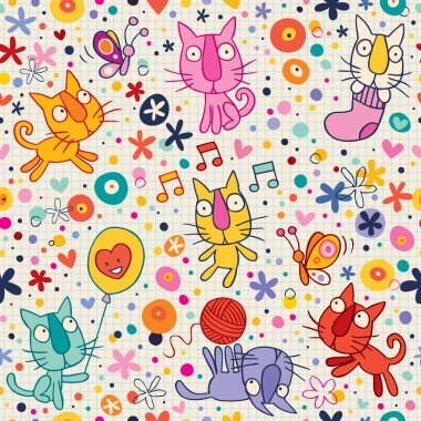 Kittens pattern