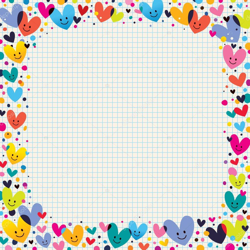 Stock Illustration Cute Hearts Border on Free Clipart Preschool Borders