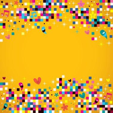 Fun pixel squares background