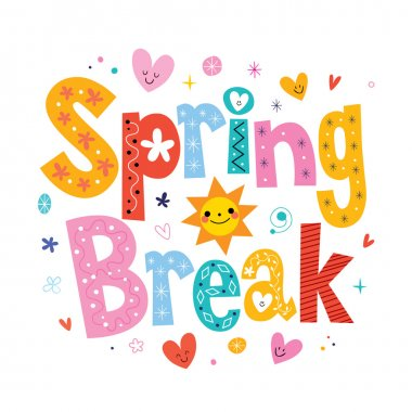 Spring break - decorative type lettering design