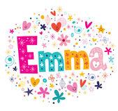 Ženské jméno Emma dekorativní písmo typ konstrukce