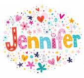 Photo Jennifer female name decorative lettering type design