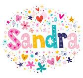 Fotografia Sandra decorativi tipo lettering design