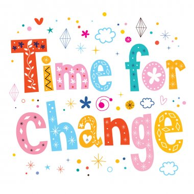Time for change text design