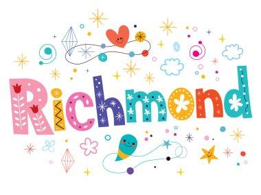 Richmond decorative type lettering