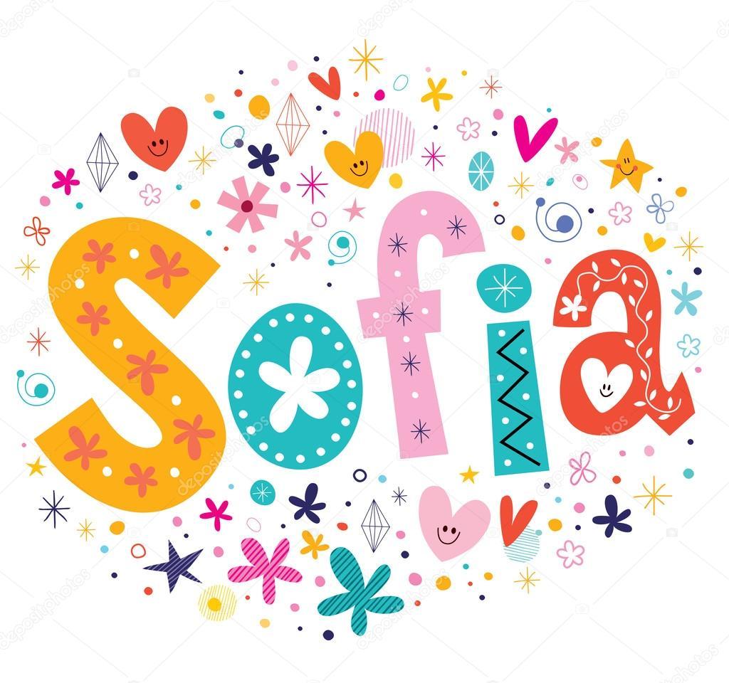 Nome de meninas Sofia decorativo letras tipo projeto  : depositphotos73154437 stock illustration sofia girls name decorative lettering from br.depositphotos.com size 1024 x 960 jpeg 106kB