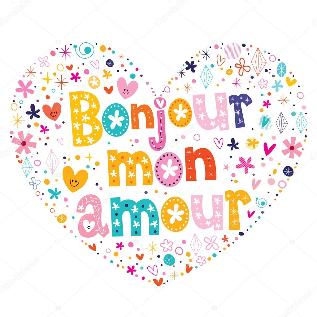 Bonjour Amour De Lun Image Vectorielle Aliasching 73158793