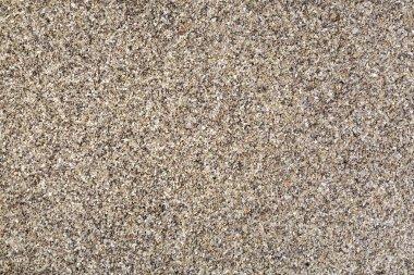 Horizontal gravel texture from quartz sand.