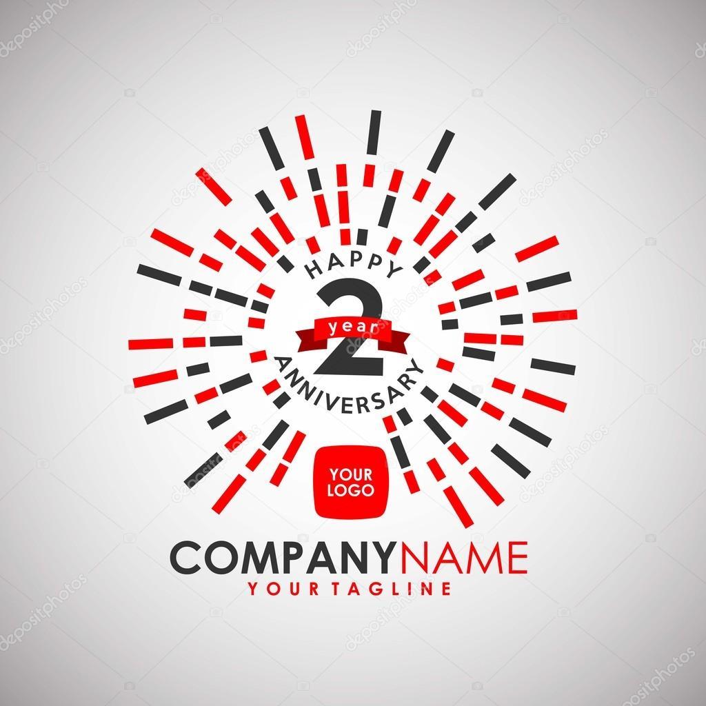 anniversary logo template stock vector yugra 105494830
