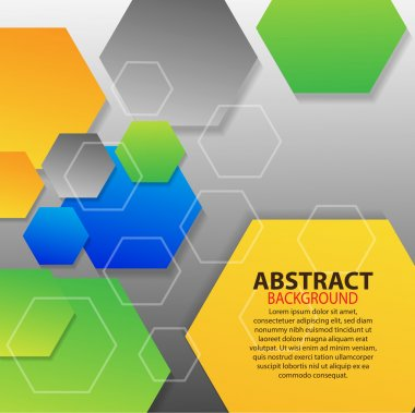 Geometrical background with hexagons