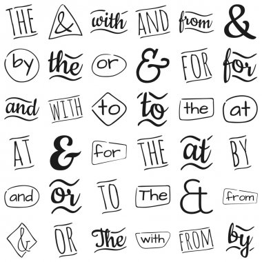 Ampersands and catchwords