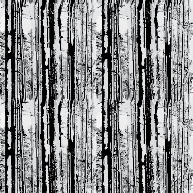 Forest seamless background on white . Vector
