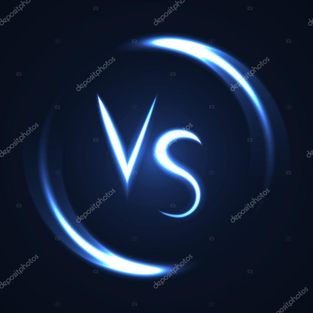 Versus letters luminous logo neon v and s flat style symbol versus letters luminous logo neon lucent letters v and s symbols vector by artoptimum biocorpaavc