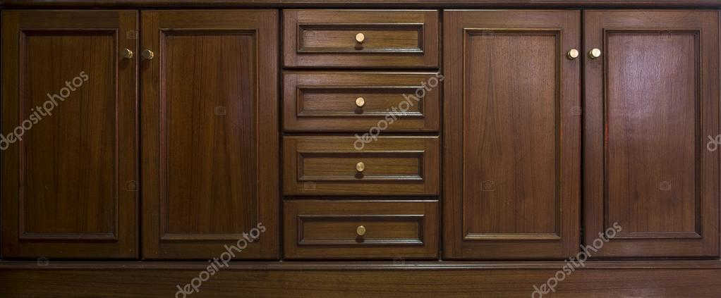 Front kitchen wooden frame cabinet door and drawers made from da ...