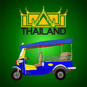 Photo Tuk tuk, 3 wheels taxi in Bangkok Thailand Logo