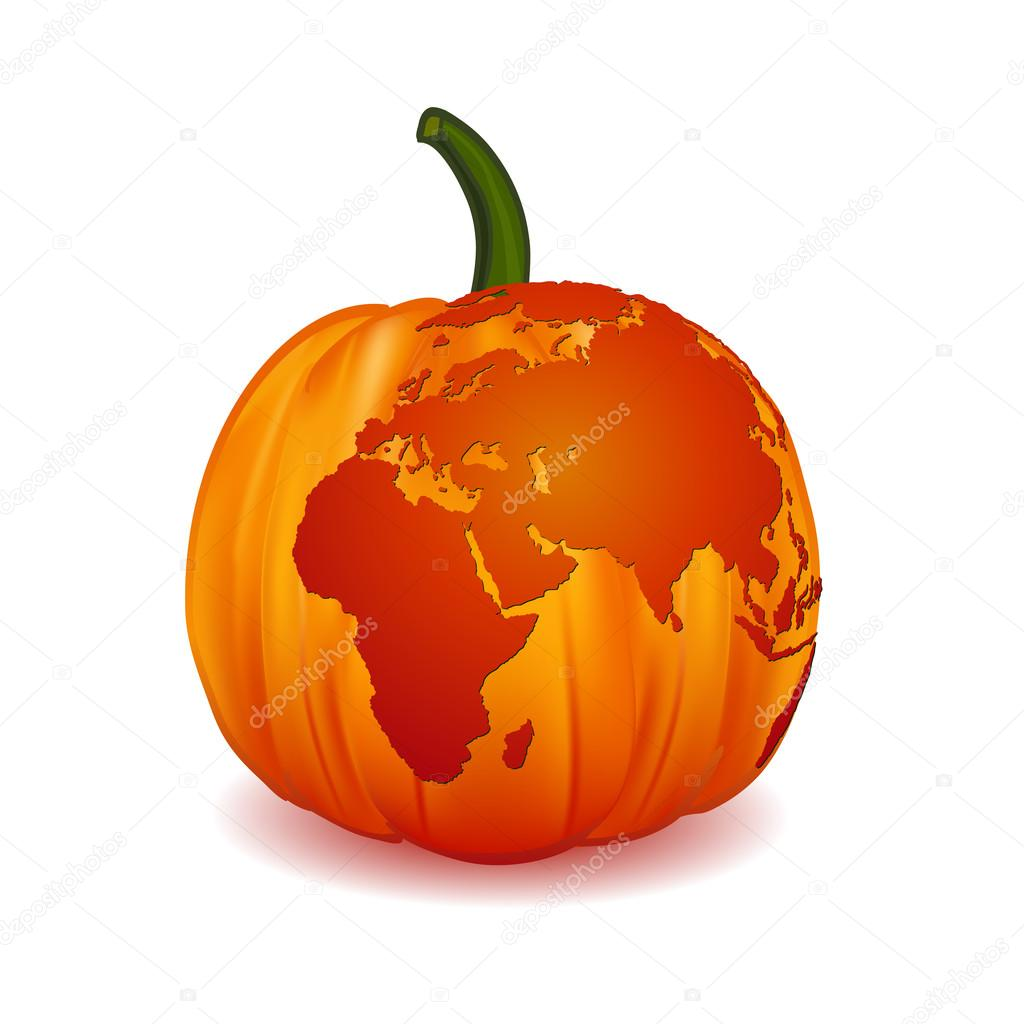 World map europe zone on scary halloween pumpkin illustration world map europe zone on scary halloween pumpkin illustration vector vector de stock gumiabroncs Choice Image