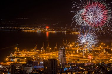 Fireworks over Haifa, Israel