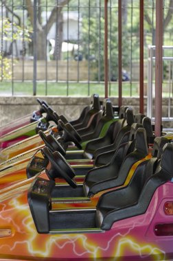 Bumper cars in a fair