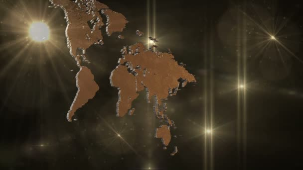World Map in Space