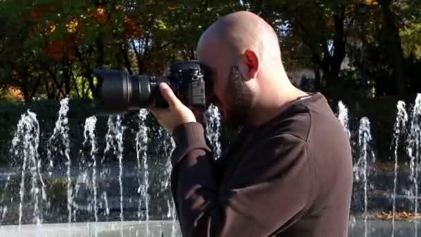 Fotograf schießt Brunnen
