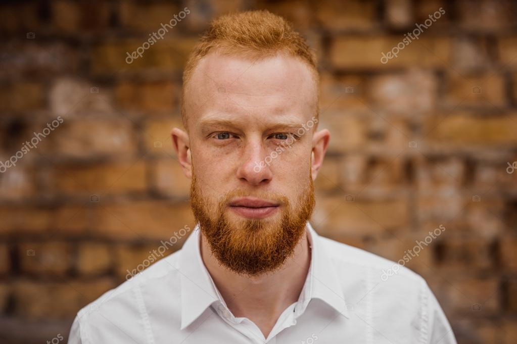 Porträt eines jungen Mannes mit rotem Haar und Bart