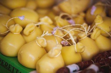 CACIOCAVALLO CHEESE sold at local market