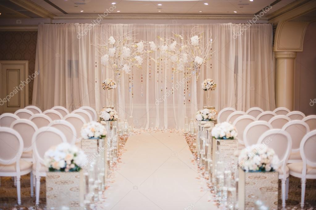 Beautiful wedding ceremony design decoration elements with arch beautiful wedding ceremony design decoration elements with arch floral design flowers chairs indoor photo by fesenko junglespirit Image collections