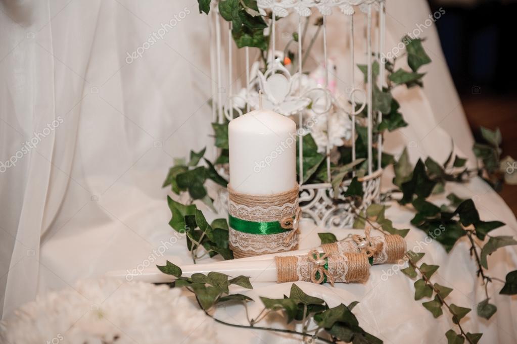 Decorazioni Da Tavola Per Natale : Decorazione della tavola di natale in bianco e verde u foto stock