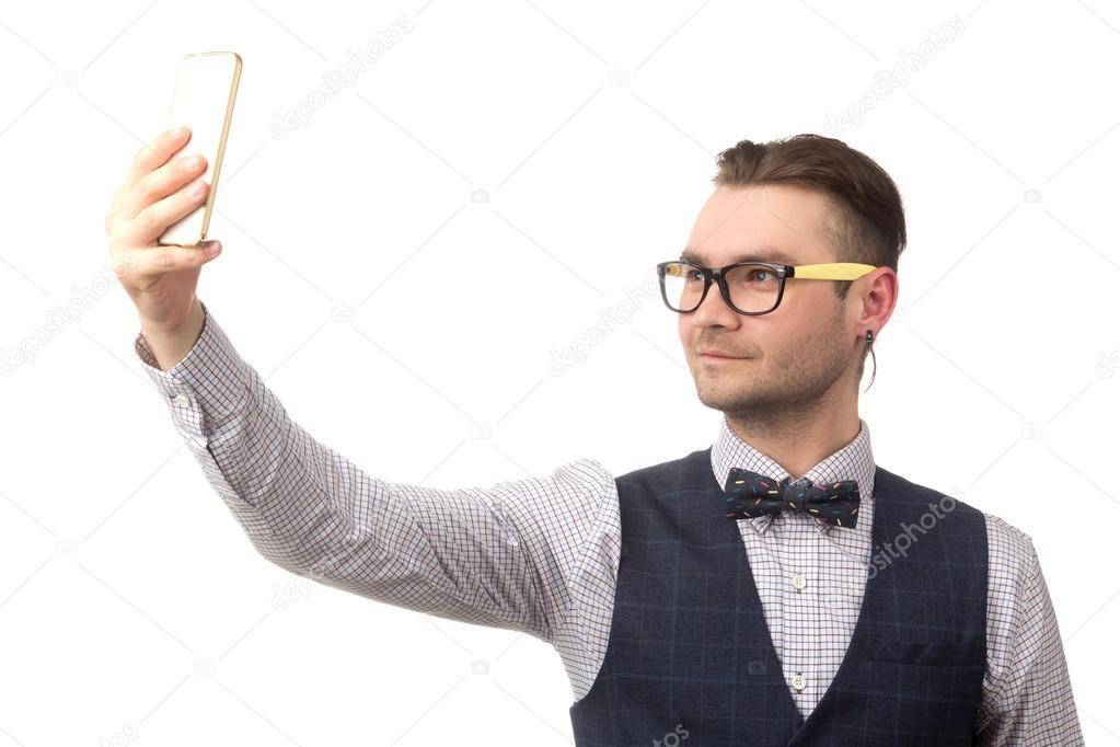 attraktiver Kerl Selfies