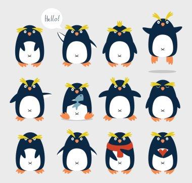 Crested penguins