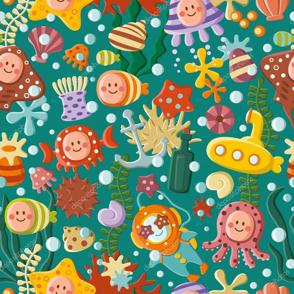 Cute sea pattern