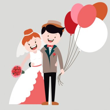happy in love , bride and groom , wedding, married, happy family , vector graphics
